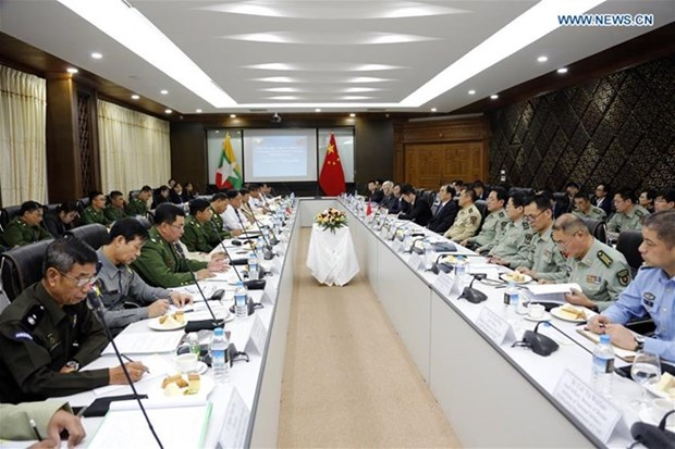 La Chine et le Myanmar conviennent de maintenir la paix et la stabilite dans les zones frontieres hinh anh 1