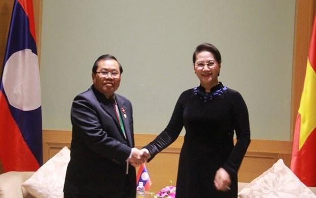 APPF-26 : la presidente de l'AN recoit des parlementaires marocain, laotien et japonais hinh anh 2