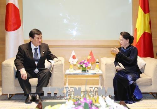 APPF-26 : la presidente de l'AN recoit des parlementaires marocain, laotien et japonais hinh anh 3