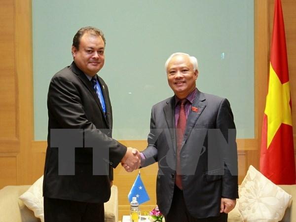 Le Vietnam souhaite renforcer la cooperation avec la Micronesie hinh anh 1