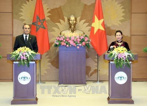 APPF-26 : la presidente de l'AN recoit des parlementaires marocain, laotien et japonais hinh anh 1