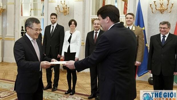 L'ambassadeur du Vietnam en Hongrie presente ses lettres de creance hinh anh 1