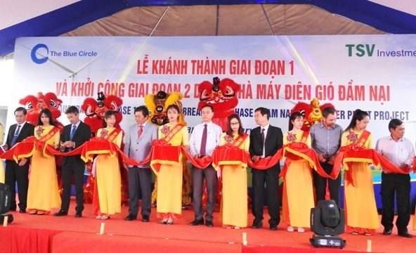 Ninh Thuan : mise en chantier de la 2e phase du parc eolien Dam Nai hinh anh 1