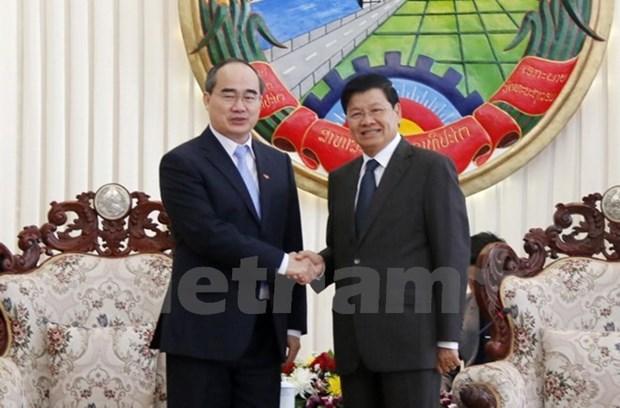 HCM-Ville partage son experience de developpement urbain avec Vientiane hinh anh 1