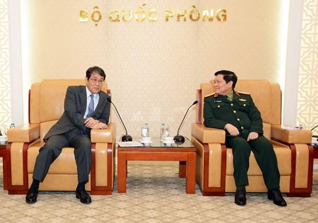 Le ministre de la Defense Ngo Xuan Lich recoit l'ambassadeur du Japon hinh anh 1