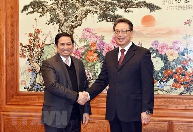 Une delegation du Parti communiste du Vietnam en visite de travail en Chine hinh anh 1