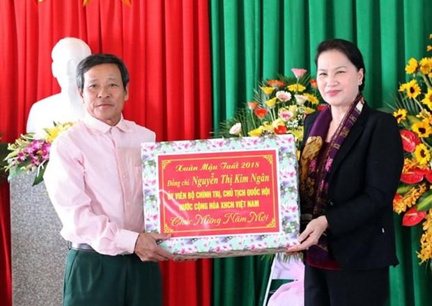 La presidente de l'Assemblee nationale poursuit sa visite de travail a Ha Tinh hinh anh 1