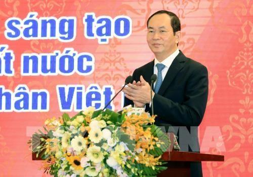 Le president Tran Dai Quang appelle a developper l'economie privee hinh anh 1