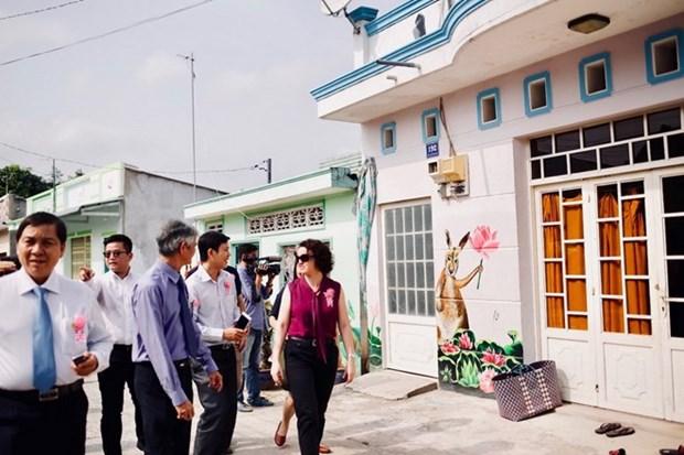 Inauguration du 1er village de fresques dans le delta du Mekong hinh anh 1