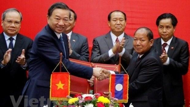Vietnam - Laos: cooperation efficace entre les deux ministeres de la Securite publique hinh anh 1