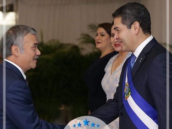Le president hondurien veut dynamiser les relations Vietnam - Honduras hinh anh 1