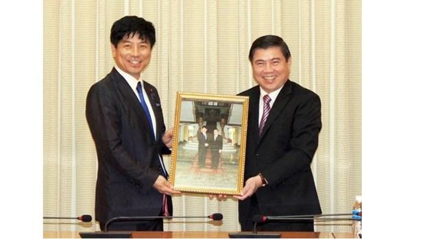 Le vice-ministre japonais des AE en visite de travail a Ho Chi Minh-Ville hinh anh 1