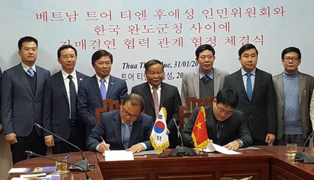 Renforcement de la cooperation entre la province de Thua Thien - Hue et des localites sud-coreennes hinh anh 1