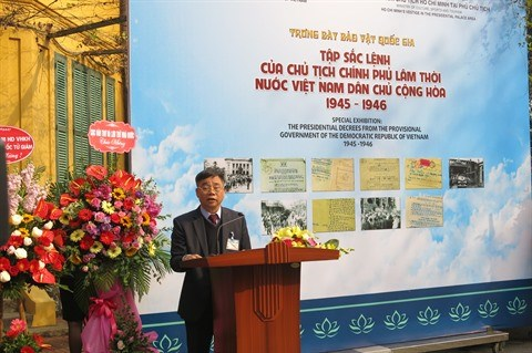 La collection des decrets du President Ho Chi Minh exposee a Hanoi hinh anh 1
