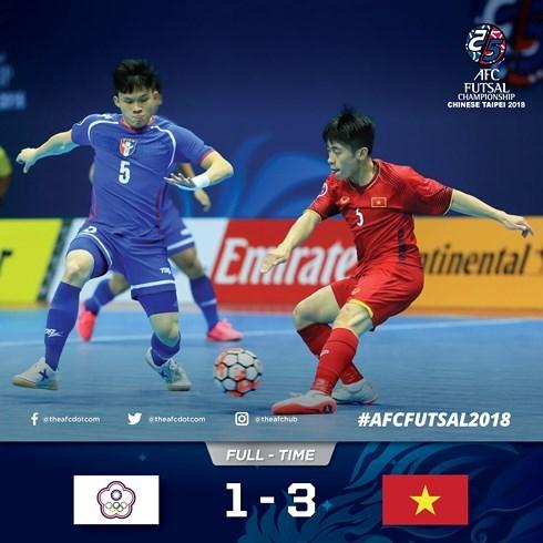Championnat d'Asie de futsal : le Vietnam se qualifie pour les quarts de finale hinh anh 1