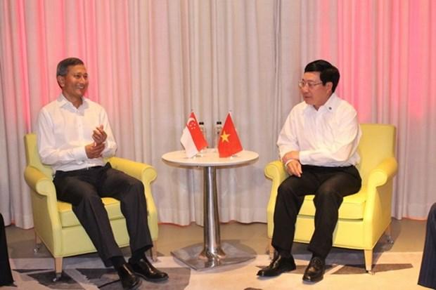 Vietnam et Singapour promeuvent les relations de cooperation bilaterale hinh anh 1