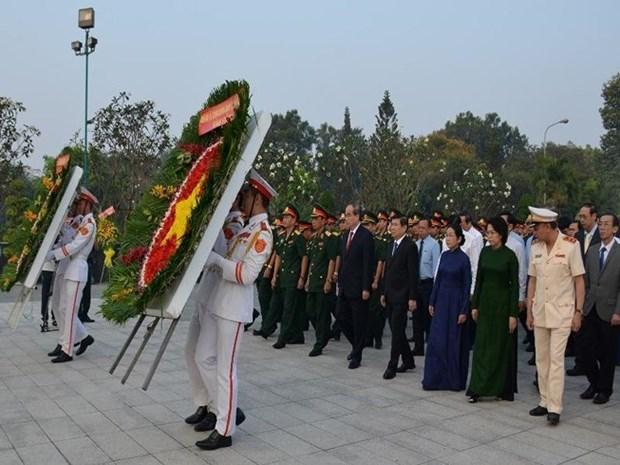 Les autorites de HCM-Ville commemorent les martyrs de guerre hinh anh 1