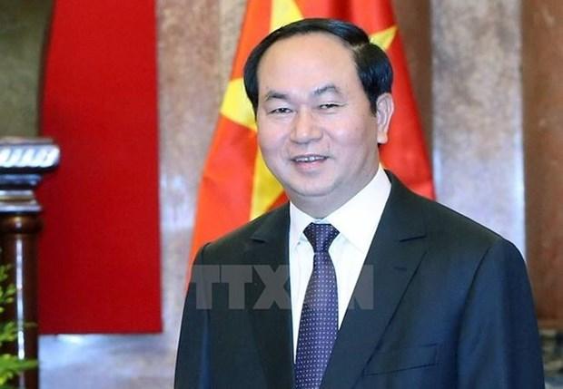 Le president Tran Dai Quang adresse sa lettre de vœux 2018 hinh anh 1
