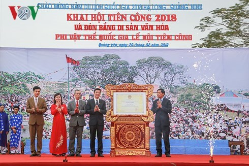 "Quang Ninh: ""Procession humaine""- patrimoine culturel immateriel national hinh anh 1"