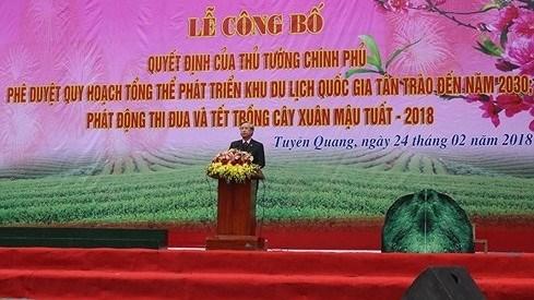Publication du plan d'amenagement de la zone touristique nationale Tan Trao-Tuyen Quang hinh anh 1
