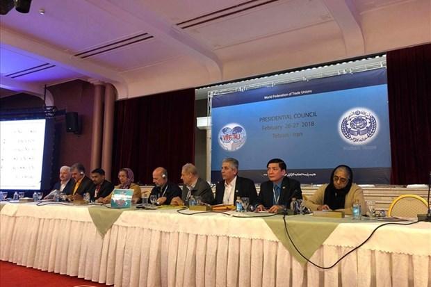 Le Vietnam a la reunion du Conseil Presidentiel de la Federation Syndicale Mondiale hinh anh 1