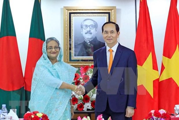 Entretien entre le president Tran Dai Quang et la PM bangladaise Sheikh Hasina hinh anh 1