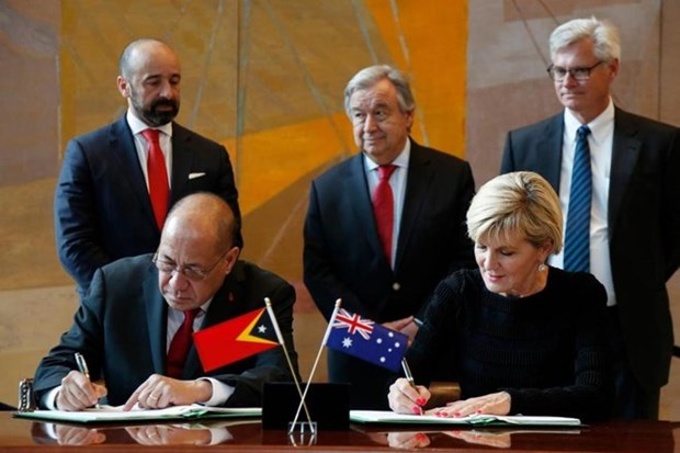 L'Australie et le Timor-Leste signent un traite sur les frontieres maritimes hinh anh 1