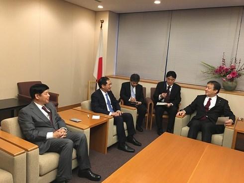Le vice-ministre des Affaires etrangeres Bui Thanh Son en visite au Japon hinh anh 1