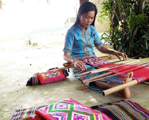 Preserver le tissage de brocatelle de Ta Lai hinh anh 1