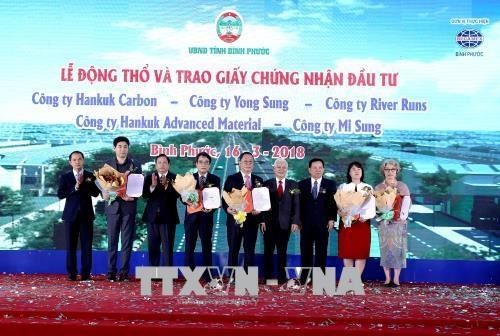 Mise en chantier de cinq projets sud-coreens a Binh Phuoc hinh anh 1