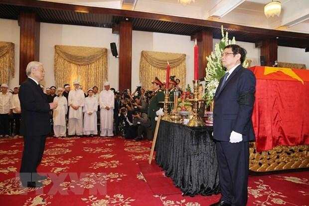Visites de condoleances a l'ancien PM Phan Van Khai a Hanoi et HCM-Ville hinh anh 1