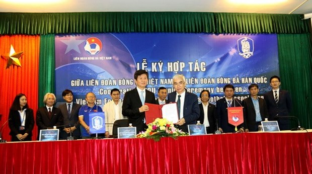 Vietnam et Republique de Coree cooperent dans le football hinh anh 1