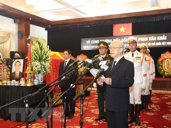 Ceremonie en memoire de l'ancien Premier ministre Phan Van Khai hinh anh 1