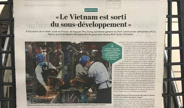 Un journal francais fait grand cas des exploits economiques du Vietnam hinh anh 1