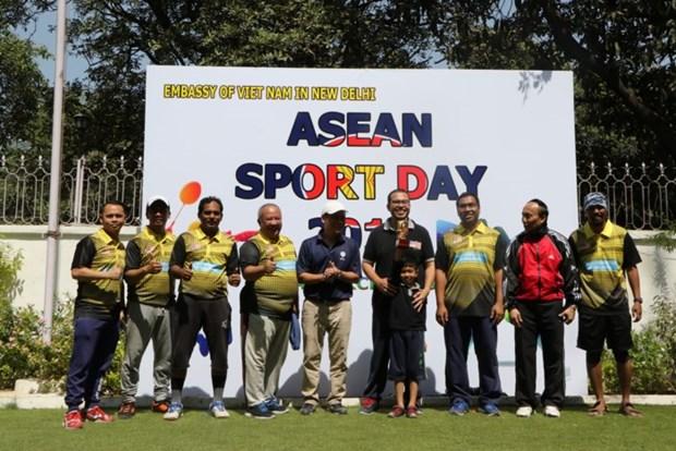 Tournoi sportif de l'ASEAN en Inde hinh anh 1