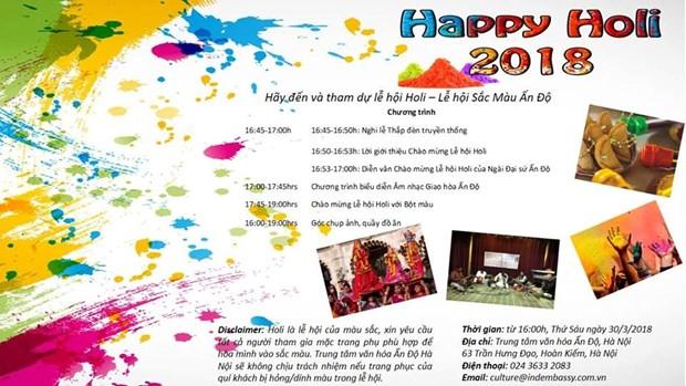 Rendez-vous a la fete des couleurs Holi 2018 a Hanoi hinh anh 1