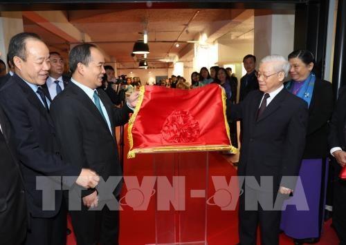 Inauguration du nouveau siege du Centre culturel du Vietnam en France hinh anh 1