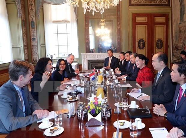 La president de l'AN Nguyen Thi Kim Ngan visite l'Institut de Deltares aux Pays-Bas hinh anh 1