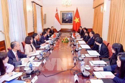 Reunion de consultation politique Vietnam - Singapour hinh anh 1