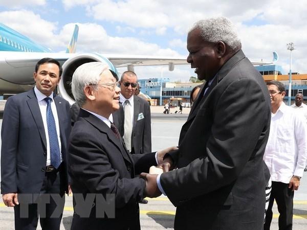 Le secretaire general Nguyen Phu Trong entame sa visite d'Etat a Cuba hinh anh 1