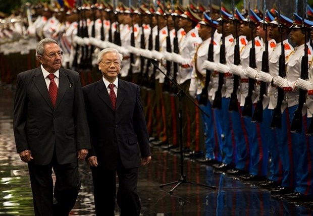 Entretien Nguyen Phu Trong – Raul Castro hinh anh 1