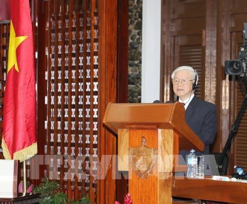 Nguyen Phu Trong souligne l'exemple special et unique de l'amitie Vietnam-Cuba hinh anh 1