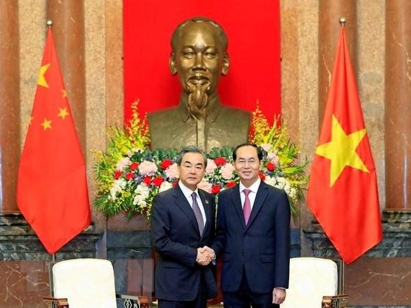 Le president Tran Dai Quang recoit le ministre chinois des Affaires etrangeres hinh anh 1