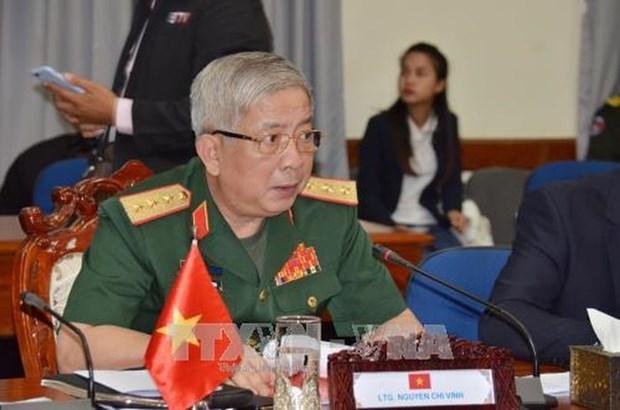 Le general Nguyen Chi Vinh recoit une delegation du ministere japonais des AE hinh anh 1