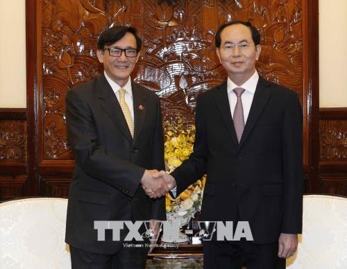 Le president Tran Dai Quang recoit le diplomate thailandais hinh anh 1