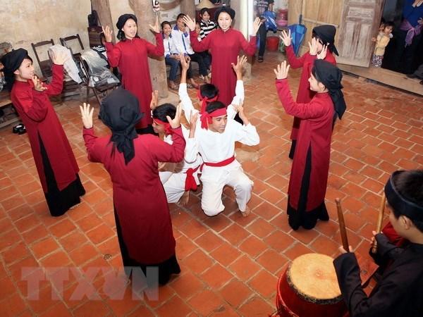 Phu Tho presente un programme de Hat xoan pour les touristes hinh anh 1