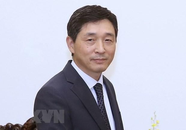 Insigne pour la paix et l'amitie entre les nations a l'ambassadeur sud-coreen au Vietnam hinh anh 1