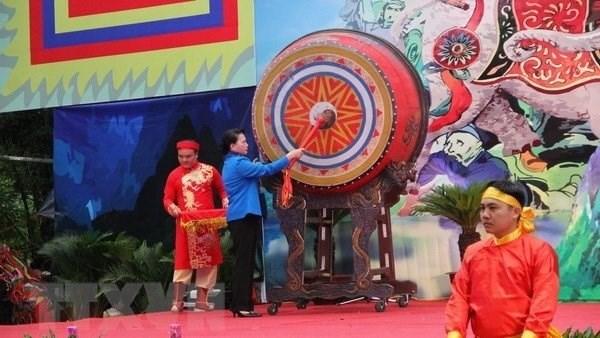 La Presidente de l'AN Nguyen Thi Kim Ngan a la fete de Ba Trieu 2018 hinh anh 1