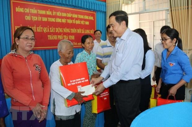 Chol Chnam Thmay: le chef du FPV Tran Thanh Man se rend a Tra Vinh hinh anh 1