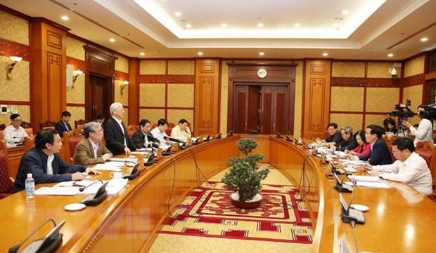 Reunion sur les resultats d'inspection de l'application de la Resolution du 4e Plenum du Parti hinh anh 1